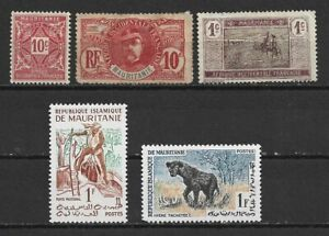 Mauritania different stamps