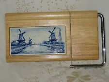 Cheese Board Cutter Dutch Tile