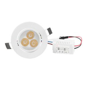 9W COB Recessed Led Ceiling Down Light Fixture Spotlight Lamp Bulb Warm White