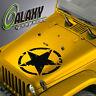 Hood Decal for Jeep Wrangler Tj Lj Jk Jku - Army Star Oscar Mike Sticker