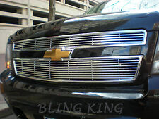 2007-2014 Chevy Tahoe chrome grille insert grill overlay horizontal trim