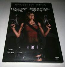 """Resident Evil /Resident Evil: Apocalypse (DVD, 2007, 2-Disc Set)  """"NEW"""""""