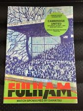 FULHAM V CAMBRIDGE UNITED 5TH MAY 1984 CANON LEAGUE DIVISION TWO PROGRAMME MOYES