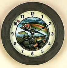 "RIVERSEDGE 12"" Barnwood Trout Clock"