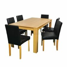 Wooden Modern Table & Chair Sets 7 Pieces