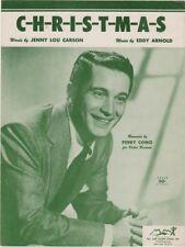C-H-R-I-S-T-M-A-S    Perry Como  photo 1949  vintage sheet music