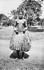 UBANGI - REP OF CONGO, SEMI-NUDE WOMAN WEARING SKIRT, REAL PHOTO PC c. 1930's
