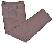 LANVIN Mainline Made in ITALY Gray Ribbed SOFT Cotton Casual Pants EU 50 US 34