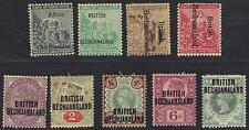 Uk Gb British Bechuanaland 1891 Complete Set To Shilling Sg 33-37 Plus Other Val
