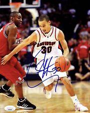Stephen Curry Signed 8x10 Photo JSA COA #30 Warriors NBA MVP Davidson Full Auto