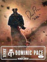 DOMINIC PACE Signed 8.5x11 Print MANDALORIAN Star Wars GEKKO Autograph JSA COA