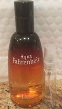 *DISCONTINUED* Aqua Fahrenheit Dior 10ML Glass Decant Sample Cologne