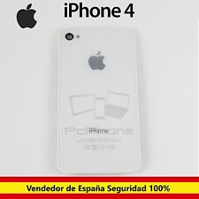 Apple iPhone 4 4G Tapa Trasera Cubierta Bateria Chasis Cristal Blanca Blanco