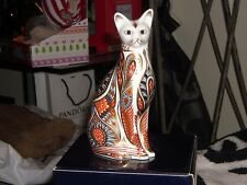 Royal Crown Derby, Siamese Cat paperweight, 1st Quality, or butées.