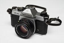 Asahi Pentax K1000 35mm SLR Film Camera CLAed w/ new seals! SMC-M 50mm f/2 lens