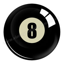 "NUMBER 8 POOL BALL DIGITALLY CUT OUT VINYL STICKER. 3"" X 3"" OVERALL SIZE.V-DUB"