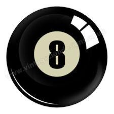 Número 8 Pool BALL digitalmente Corte Vinilo Pegatina 7.6cm x 7.6cm Overall