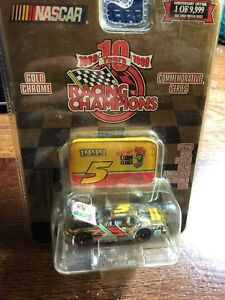 Terry Labonte GOLD CHROME Kellogg's 1:64 Racing Champions car with medallion '99