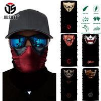 Deadpool Joker Clown V for Vendetta Scarf Neck Gaiter Headband Bandana Face Mask