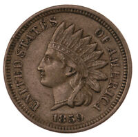 Raw 1859 Indian Head 1C Ungraded US Minted Small Cent Coin