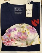 New listing Figs Scrub Top, New, Large, Navy Blue, Wrinkle Free Material, Free Scrub Cap Wow