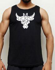 Under Armour Project Rock Brahma Bull T-Shirt Compression Black Sleeveless
