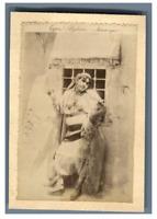 Algérie, Types Algériens - Mauresque  Vintage albumen print.  Tirage albuminé