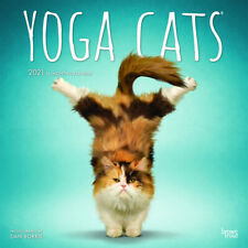 2021 Calendar Yoga Cats Square Wall by Browntrout BT18960