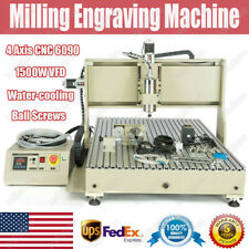 Usb 4 Axis 6090 1.5Kw Vfd Cnc Router Engraver Engraving Wood Acrylic Metal Sheet