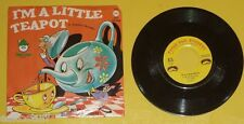 I'm A Little Teapot/Yankee Doodle Child's 45 RPM Record 1960s Nice Cover! See!