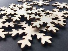 25 Streudeko Holz Tischdeko Bastelzubehör Weihnachten Xmas Schneeflocke Flocke