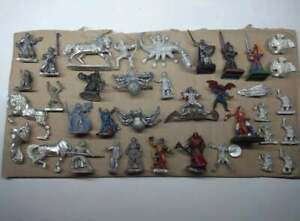 Lot of various metal miniatures for fantasy RPGs like D&D