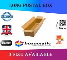 More details for long white die cut cardboard postal posting storage boxes