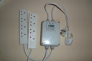 Gro-lec Grow Light Contactor 8 Way Digital Timer Hydroponics Lighting Relay