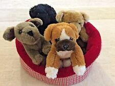Melissa & Doug Basket Of Puppies Doggie Bed And Four Puppies