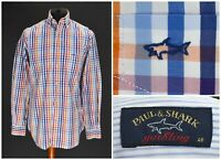Mens Paul & Shark Yachting Long Sleeve Shirt Check Multicolor Size 40 / 15.5