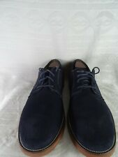 BOSTONIAN Mens Blue Suede Casual Oxford Shoes size 12 M Made in India