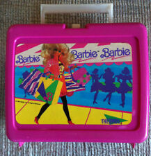 1990 BARBIE  PLASTIC LUNCH BOX WITH THERMOS