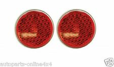 Land Rover SERIES 1, 2 & 3  - ROUND  Rear Reflector - PAIR - 551595