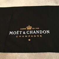 MOET & CHANDON CHAMPAGNE T TOWEL - BLACK CHAMPAGNE T TOWEL - LUXURY XMAS PRESENT