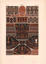 RACINET ORNEMENT POLYCHROME 5 Ancient Greek decorative arts patterns motif c1885