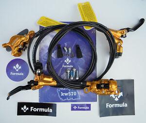 Formula - Brake set Cura 2020 Gold Polish (front+rear) ready to use - NEW