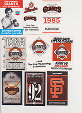 28 San Francisco Giants baseball schedules1977-16 Barry Bonds Mays McCovey Posey