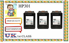 3 Remanufactured hp301 High Capacity& Quality Inkjet Cartridges for hp printer