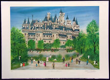 """Dan Gandre """"Le Chateau de Pierrefouds"""" Hand Signed on peper SUBMIT OFFER!"""