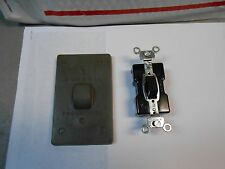 1751  HUBBELL PUSH SWITCH WITH RUBBER COVER  NEW OLD STOCK