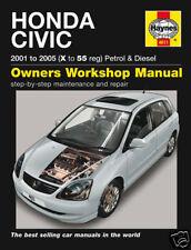 Haynes Honda Civic Benzina Diesel 01-05 Manuale NUOVO 4611