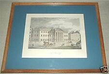 "vintage FRAMED PRINT ""The New Post-Office"" MARTYN"