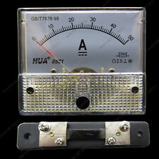 DC 50A Analog Ammeter Panel AMP Current Meter 85C1 Gauge 0-50A DC + Shunt