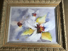 """Stunning Lolly English """"Drifting Along"""" Dual-Sided Watercolor Painting - Framed"""
